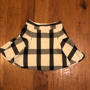 Adorable plaid wool skirt